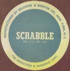 Mid-1953 SCRABBLE sticker (click to enlarge.)