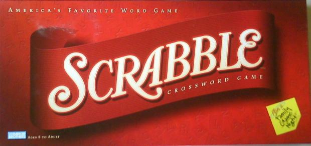 2001-? Parker Brothers period Scrabble box.