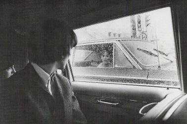 Beatles in limo in Denver.
