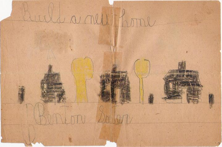 Build a new home - 1st grade drawing, 1931.