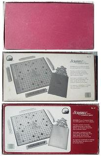 1982-1986 Scrabble box bottoms.