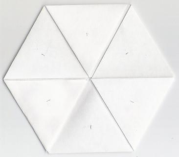 Blank hexaflexagon