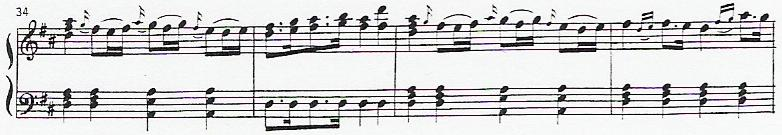 Piano notation - old way.