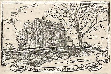 Sarah Rowland House. (Click to enlarge.)